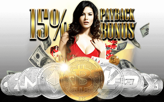 GET A 15% BITCOIN PAYBACK BONUS!